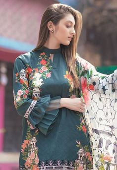 Stunning and Unique Sleeves Designs for Dresses - Kurti Blouse Kurti Sleeves Design, Kurta Neck Design, Sleeves Designs For Dresses, Dress Neck Designs, Sleeve Designs For Kurtis, Stylish Dresses For Girls, Stylish Dress Designs, Girls Dresses, Stylish Dress Book