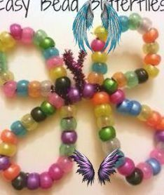 A simple and fun pony bead butterfly craft parents can do with their toddler or … - easy crafts A simple and fun pony bead butterfly craft parents can do with their toddler or preschooler. great for hand-eye coordination and fine motor skills! #Bead #butterfly #craft #easy crafts for toddlers simple motor skills #fun #Parents #Pony #Simple #Toddler<br> A simple and fun pony bead butterfly craft parents can do with their toddler or preschooler. great f Diy Garland, Diy Wreath, Ornament Wreath, Leaf Cookies, Fall Snacks, Visible Mending, Butterfly Crafts, Pony Beads, Beautiful Mess