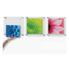 Wexel Art - Trio Set of 3 Square Floating Wall Frames 14x14 - You don't have to hang your collection of Cubist paintings in these fantastic ...