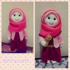 Felt girl in hijab