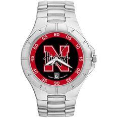 Nebraska Huskers Men's Chrome Alloy Watch