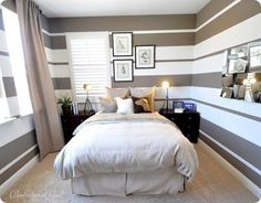 25 Bedrooms With Striped Walls Show Off This Versatile Look: Striped Walls in a Small Bedroom