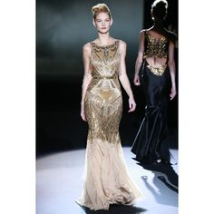 Reminds me of Daisy in The Great Gatsby | Badgley Mischka RTW Fall 2013 | Dream Till Green Dream Clothes