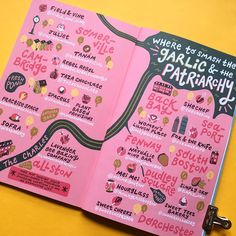 illustrated map of Boston i made for & newest publication ✨How to Smash the Garlic and the Patriarchy✨ your… Book Design Layout, Map Design, Print Design, Graphic Design, Brochure Layout, Brochure Design, Dashboard Design, Spot Illustration, Map Illustrations