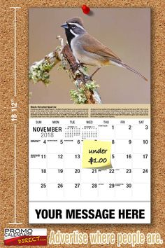 2021 Garden Song Birds Wall Calendars low as Advertise your business, organization or event logo and ad message the entire year! Out Of Office Message, Your Message, Promotional Calendars, Wall Calendars, Garden Birds, Phone Messages, Business Organization, Is 11, Holiday Cards