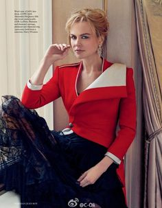 UK Harper's Bazaar March 2016: Nicole Kidman by Norman Jean Roy