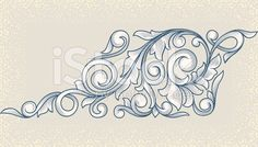 Vintage floral design element royalty-free stock vector art