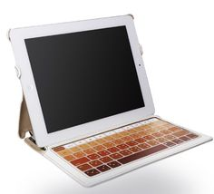 Skinny iPad case with keyboard by Hatch & Co.  UPDATE:  I have this and I love love love it!!!!  So light and I still have the keyboard, which rocks by the way!