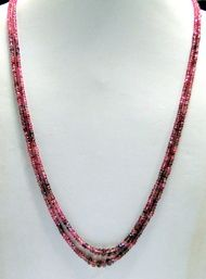 Natural micro Faceted Tourmaline gemstones  beads strands necklace
