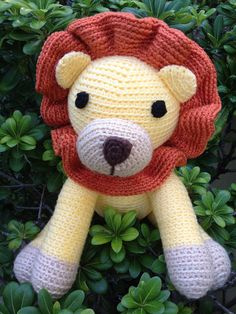 New addition to my shop! Plush Lion stuffed toy amigurumi crochet by SunnyStitchBoutique, $36.50