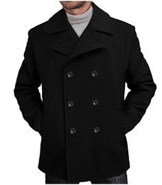online shopping for BGSD Men's 'Mark' Classic Wool Blend Pea Coat (Regular Big & Tall) from top store. See new offer for BGSD Men's 'Mark' Classic Wool Blend Pea Coat (Regular Big & Tall) Man's Overcoat, Mens Wool Coats, Mens Winter Coat, Men's Coats And Jackets, Wool Jackets, Wool Blend, Pea Coat, Mens Fashion, Double Breasted