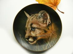 Cougar Cub Collector Plate Cubs of the Big by TheSandlapperShop