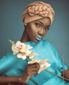 Give this one a try and send your photos Black Girl Magic, Black Girls, Black Women, African Beauty, African Fashion, Black Is Beautiful, Beautiful People, Color Splash, Turban Style