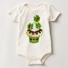 Wrap your little one in custom Japanese baby clothes. Cozy comfort at Zazzle! Personalized baby clothes for your bundle of joy. St Patricks Day Cupcake, Personalized Baby Clothes, Baby Bodysuit, Children, Kids, Saints, Monkey Baby, Stuff To Buy, Bodysuits
