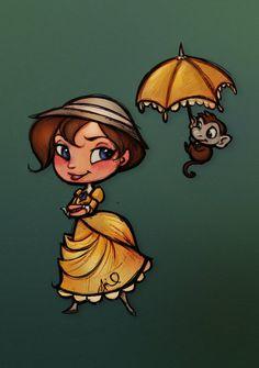Tarzan : Chibi Jane by relsgrotto on deviantART