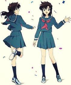 Aoko Nakamori  Kaito Kuroba's childhood friend, and love interest. Daughter of Ginzo Nakamori.  #DetectiveConan