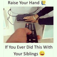 The favorite dialog for sibling Remote de varna dekh ne mamaa dekhne nahi deraha Latest Funny Jokes, Very Funny Jokes, Crazy Funny Memes, Really Funny Memes, Funny Relatable Memes, Relatable Posts, Funny Stuff, Hilarious, Sister Quotes Funny