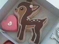 heart deer cookie
