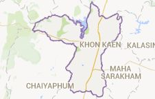 Map of Khon Kaen Province