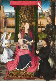 The Virgin And Child With An Angel  Hans Memling