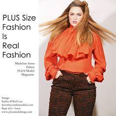 Plus size fashion IS read fashion... as seen in PLUS Model Magazine September 2011 issue www.plus-model-mag.com