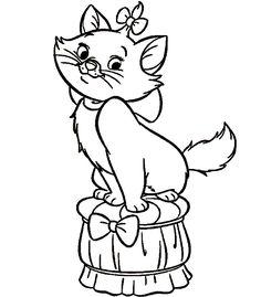 Dibujo para colorear de gatos (nº 4)