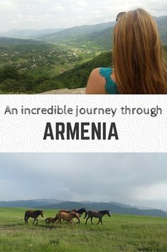 """A country filled with so much history, culture, and breathtaking nature… Armenia should be at the top of your """"off the beaten track"""" destinations. The best way to explore this undiscovered beauty is to take a roadtrip through the beautiful mountains and green valleys.  Here is a first timer's itinerary for the ultimate road trip through Armenia.  #armenia #travel #yerevan #destination #wanderlust"""