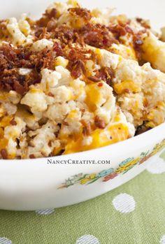 Cheesy Roasted Cauliflower - NancyCreative