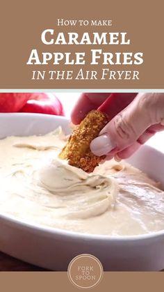 Air Fryer Recipes Dessert, Air Fryer Oven Recipes, Air Frier Recipes, Apple Recipes, Sweet Recipes, Baking Recipes, Apple Fries, Air Fried Food, Healthy Snacks