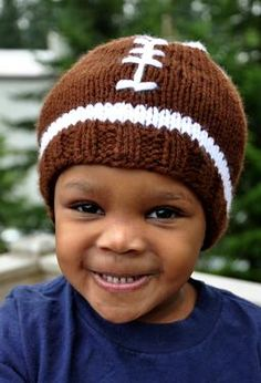 Faster Football Hat. IDP from Knit Picks.  I need to make this for my youngest son before the fall games begin!!!