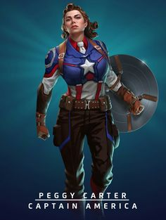 Peggy Carter as the Captain in an alternate universe. Guess that is another project for me and my husband will think I'm hot! Ha!
