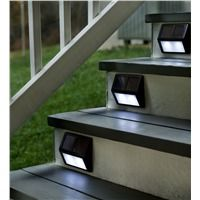 Solar Step Lights - perfect for the deck or porch. These are such a great idea!
