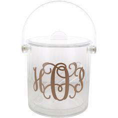 Personalized Acrylic Ice Bucket