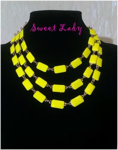#yellow #necklace https://www.facebook.com/pages/Sweet-Lady/208753725975495?ref=hl