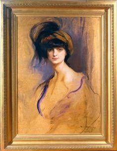 Comtesse Mathieu de Noailles, née Princesse Anna Elizabeth Brancovan 1914, by Phillip de Laszlo,
