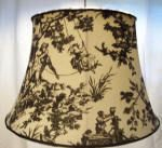 68535 Black Toile Drum Shade
