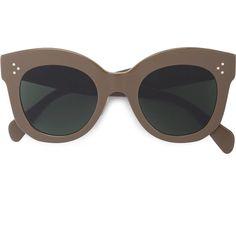 Céline Eyewear oversized frame sunglasses (¥41,420) ❤ liked on Polyvore featuring accessories, eyewear, sunglasses, brown, oversized sunglasses, celine eyewear, brown oversized sunglasses, acetate glasses and celine sunglasses