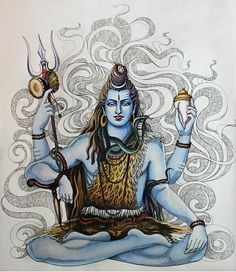 Shiva is a popular Hindu deity. Shaivas believe that Shiva is All and in all, the creator, preserver, destroyer, revealer and concealer o. Destroyer and Creator Shiva Shakti, Shiva Hindu, Shiva Art, Hindu Deities, Hindu Art, Krishna, Indian Gods, Indian Art, Lord Shiva Hd Wallpaper