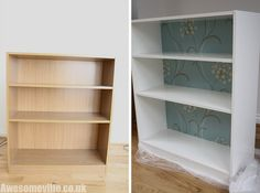 Makeover for those cheap bookcases I have