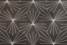 Dandelion is a hexagonal tile influenced by patterns from Japanese textile prints and lacquerware. Dandelion can be installed with multiple layouts dependi