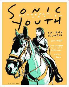 sonic youth music gig poster