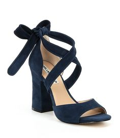 Shop for KARL LAGERFELD PARIS Racha Suede Ankle Tie Block Heel Dress Sandals at Dillards.com. Visit Dillards.com to find clothing, accessories, shoes, cosmetics & more. The Style of Your Life. Navy Block Heel Sandals, Wedding Shoes Block Heel, Navy Blue Wedding Shoes, Blue Block Heels, Blue High Heels, Wedding Heels, Dress And Heels, Dress Sandals, Karl Lagerfeld Shoes