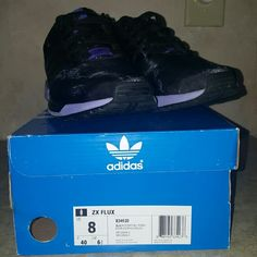 Adidas ZX Flux Womens Shoes, Black and Purple Very good quality, very lightly worn, I've only wore them a handful of times, condition is like brand new Adidas Shoes Athletic Shoes