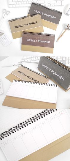 Looking for a simple planner that does all the job? Look no further! The Kraft Standing Weekly Planner is a simple and modern looking planner that has everything you need! Dateless and crafted with Kraft papers, this is an excellent planner for your desk starting at any time of the year!