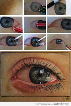 Draw a crying eye - How to draw a crying eye with reflections in few easy steps -- cool art.