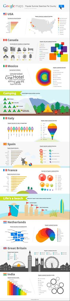 Google Maps reveals where travelers searched in summer 2012 for vacation [INFOGRAPHIC]