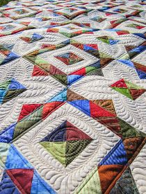 Sue Daurio's Quilting Adventures: Scrappy Goodness all quilted
