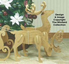 All Christmas - Medium/Small White Reindeer Pattern Wooden Reindeer, White Reindeer, Reindeer And Sleigh, Scandinavian Christmas, Rustic Christmas, Christmas Crafts, Christmas Decorations, Christmas Ornaments, Wooden Crafts
