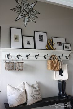 I like the Moravian Star light plus pictures and hooks - can present your personal view