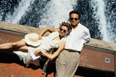 Annette Bening and Warren Beatty - on the set of Love Affair